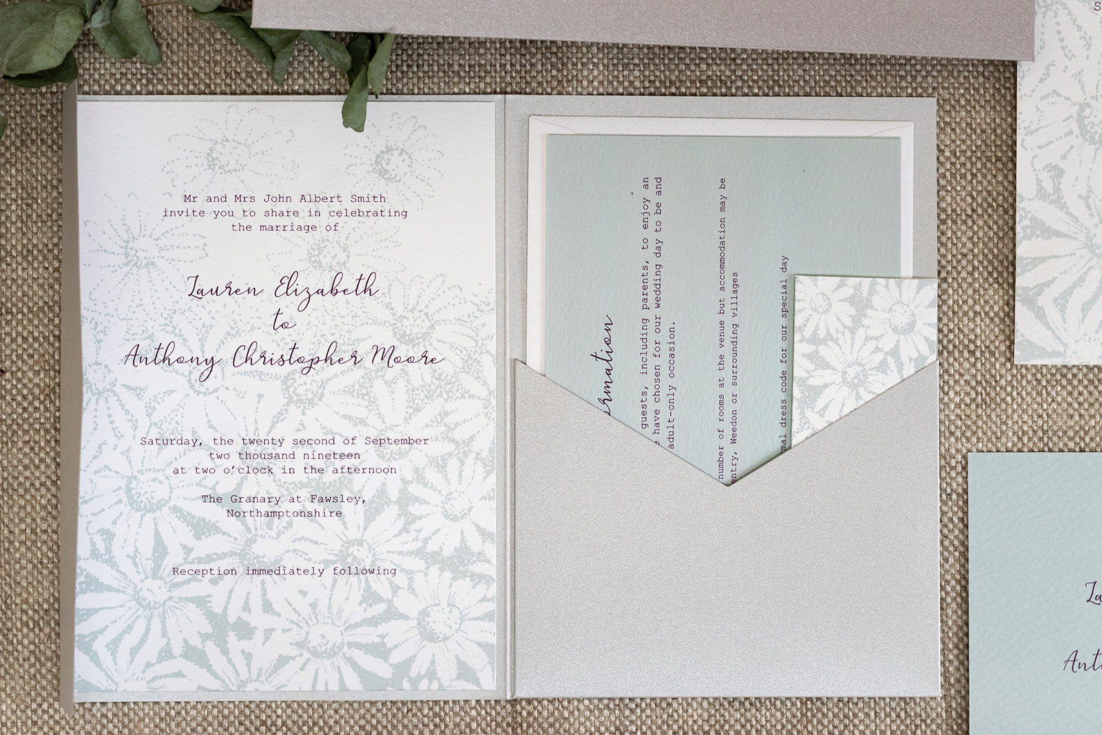 wedding stationery northamptonshire